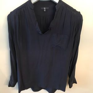 Gap Navy Blue Blouse Dress Shirt size XS